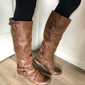 Carlos Santana • Hanna Cognac Riding Boot